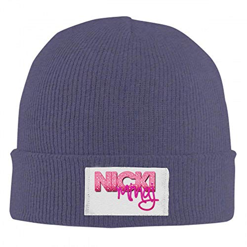 NVT NA Nicki-Minaj-Logo Knitted Hat Beanie Wool Stocking Cap Winter Ski Cap Navy