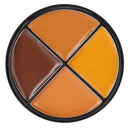 Crème anti-cernes, Solomi 4 couleurs visage couverture durable Correcteur Palette Crème de maquillage 3 types(3#)