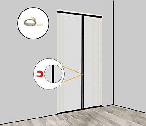 Staubschutztür Magnet Set (Vlies) Bautür mit Magnetverschluss 1,20 x 2,20 m inkl. doppelseitigem Klebeband und LDPE-Abdeckfolie