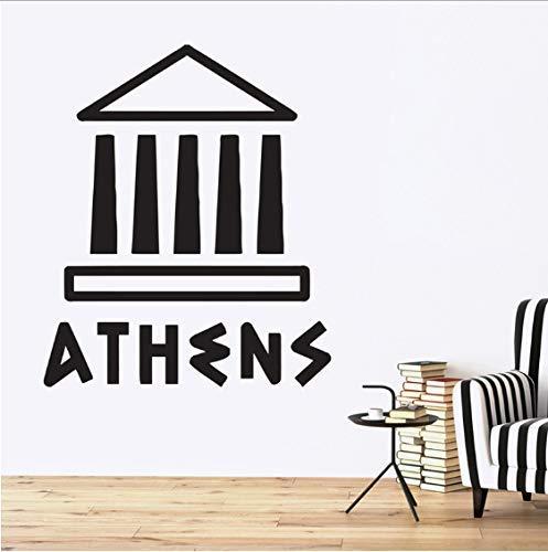 Adesivi murali Atene Acropoli Partenone Luoghi d'interesse Grecia antica Decorazioni per la casa Soggiorno Camera da letto Adesivi murali 58X48cm