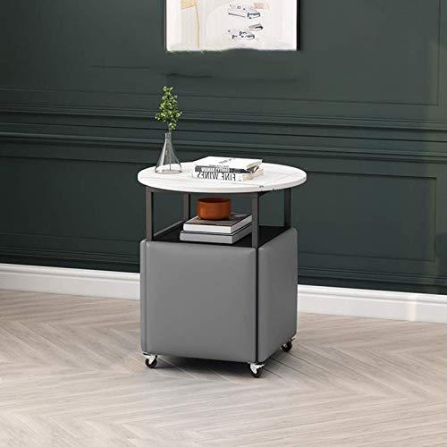 N/Z Home Equipment Beistelltische Beistelltisch Empfänglicher Couchtisch mit Rollen und 4 Stühlen Rock Board Top Sofa Beistelltisch Nachttisch für das Home Office (Farbe: grün)