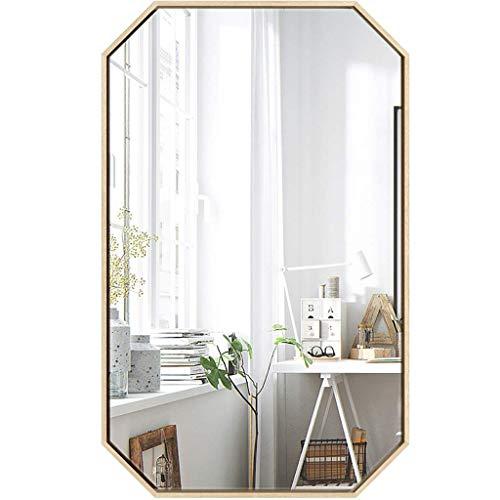 HXCD Espejos de tocador de Pared, Espejo de Pared, Espejo de baño de Hierro Forjado nórdico, Espejo de Maquillaje de Pared, Espejo de tocador Octogonal Creativo, Espejo de Afeitar, Espejo decorat