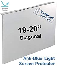 19-20 inch VizoBlueX Anti-Blue Light Filter for Computer Monitor. Blue Light Monitor Screen Protector Panel (17.3 x 10.8 inch). Blocks Blue Light 380 to 495 nm. Fits LCD, TV and PC, Mac Monitors