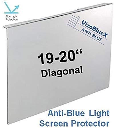 19-20 pollici VizoBlueX Anti Luce Blu filtro per monitor di computer. Luce blu pannello di protezione dello schermo del computer (44,0 x 27,5 cm).Per
