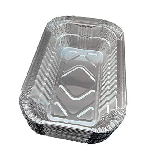 BIMUS 1 Satz von 25 Aluminiumfolie-Tropfpfannen - Einweg-Aluminiumfolie Kochschalen Einweg-BBQ-Fettschütten