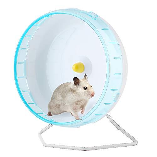 Esenlong Hámster Toys, rueda de hámster silenciosa jaula de hámster Mute Ejercicio, Rueda de correr Spinners para roedores, gerbos, ratones (soporte no incluido)