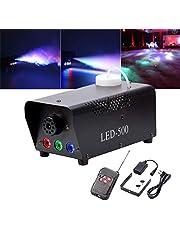 U`King rookmachine LED 500W met effect RGB-kleur via afstandsbediening en DMX groot voor bruiloft DJ disco party podium verlichting