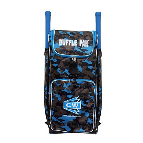 CW Kit de críquet para críquet con doble compartimento para murciélagos de críquet, bolsa de camuflaje