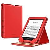 TiMOVO Custodia per Nuovo Kindle (10ª Generazione - Modello 2019), Cover Verticale a Vibrazione Premium con Auto Sonno/Sveglia (Non adatto Kindle Paperwhite o Kindle 8th Gen) - Rosso