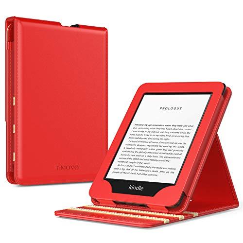 TiMOVO Funda Compatible con Nuevo Kindle (10ª generación - Modelo 2019), Prima Voltear Verticalmente Tapa de Cubierta con Auto Sueño/Estela Case (No para Kindle Paperwhite) - Rojo