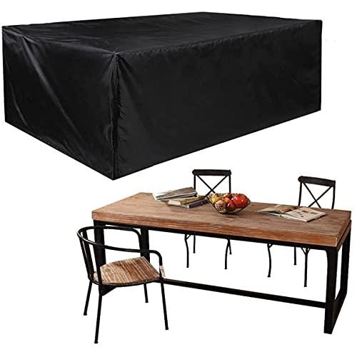 Topwonder Funda protectora para muebles de sofá y muebles, tela Oxford de alta calidad y resistente, con cordón de ajuste y cortavientos (250 x 250 x 90 cm)