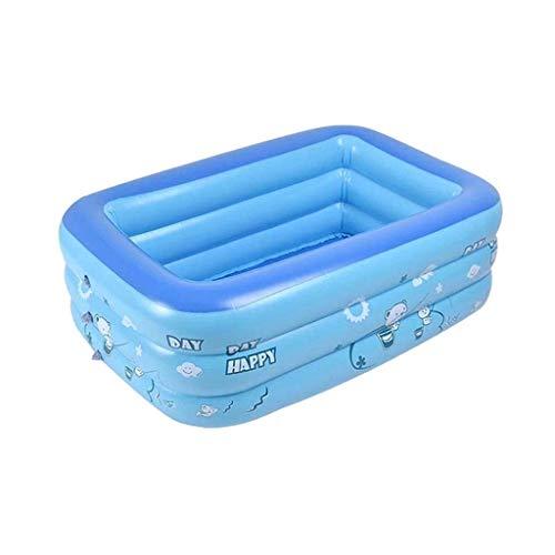 DressLksnf Piscina de Inflación Familiar para Niños Bebé Oceano Ball Sand Pool Bañera Juguetes Square Piscina Hinchable Doméstica de Tres Pisos