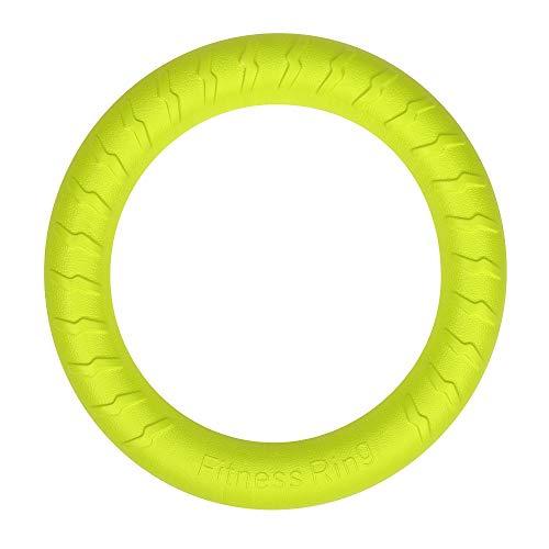 Anillo grande de juguetes para perro flotante de agua, al aire libre Fitness volando discos, Tug of War interactivo anillo de entrenamiento para perros medianos y grandes