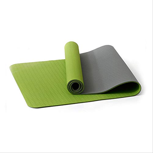 Estera De Yoga Alargada Ensanchada Y Engrosada Manta De Yoga Para Principiantes Estera De Fitness Jade verde