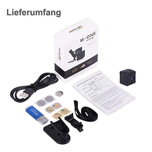 Mini Kamera, MHDYT HD 1080P Super Kleine Nanny Cam, Tragbare Mikro Überwachungskamera mit Bewegungsmelder und Infrarot Nachtsicht, Compact Akku Kameras für Innen und Aussen