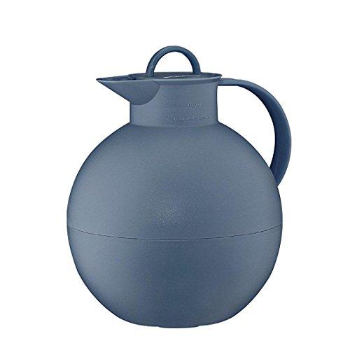 alfi Kugel, Thermoskanne Kunststoff blau 0,94l mit alfiDur Vakuum-Hartglaseinsatz, Isolierkanne hält 12 Stunden heiß, ideal als Kaffeekanne oder als Teekanne - 0115.060.094