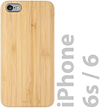 iATO iPhone 6 / 6s Wooden Case - Real Bamboo Wood Grain Premium Protective Shockproof Slim Back Cover - Unique, Stylish & Classy Snap on Thin Bumper Accessory Designed for iPhone 6 / 6s