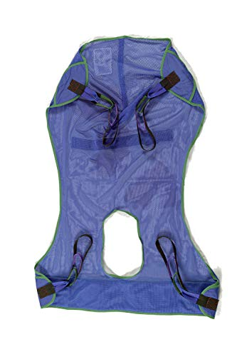 ProHeal Universal Full Body Mesh Lift Sling with Commode Opening, Medium, 53'L x 40' - Polyester Slings for Patient Lifts - Compatible with Hoyer, Invacare, McKesson, Drive, Lumex, Medline, Joerns