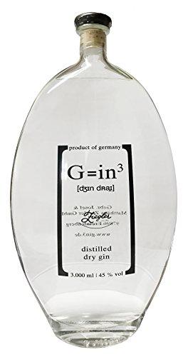 Ziegler G=in³ XXL Flasche 3 Liter Gin