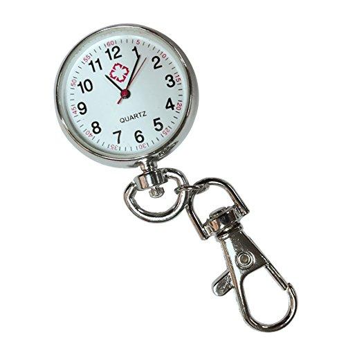Wildlead Colgante para Reloj de Bolsillo de Acero Inoxidable Cuarzo con Llavero Casual