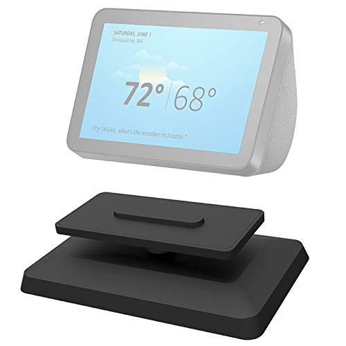 Zanedy Echo-Show-8-Ständer, Zubehör für Amazon-Alexa-Smart-Home-Lautsprecher, magnetische Befestigung, um 360 Grad drehbar und kippbar, rutschfeste Unterseite, verstellbare Standhalterung