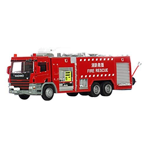 Modelo de aleación de aleación de automóviles Modelo de vehículo 1:50 Tanque de agua Camión de bomberos Agua Spray Fire Metal Fire Alarma Simulación Coche Modelo Modelo Niños Juguetes Preciosa Colecci