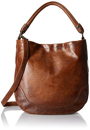 Antique pull up leather hobo from Frye's best selling Melissa collection 1 interior zip pocket, 2 interior sleeve pockets leather shoulder strap and removable, adjustable crossbody strap. Hang tag not included Measurements: 10 inches W X 13 inches H ...