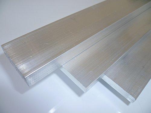 B&T Metall Aluminium Flach eloxierfähig, schweißbar, roh, unbehandelt | Maße 50 x 10 mm, Länge ca. 1,0 m