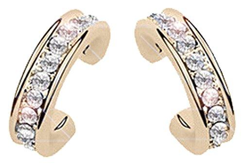 korpikus® Jewel verkrustete Kristall Strass Goldmetallband -Ohrringe KOSTENLOSER Organza-Geschenk-Beutel!