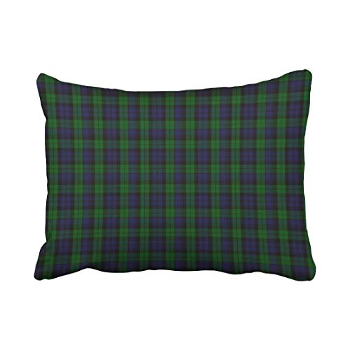 okstore1988 Funda de almohada de poliéster con diseño de cuadros negros de 45,7 x 45,7 cm, tamaño estándar, rectangular, cojín decorativo con cremallera oculta, sofá para el hogar