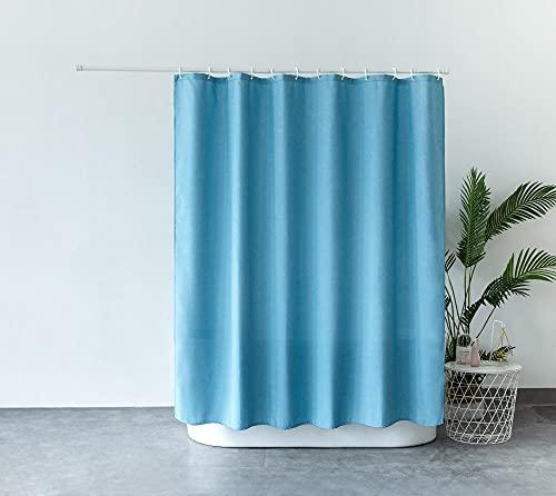 Duschvorhang Anti-Schimmel & Wasserabweisend Shower Curtain mit 12 Duschvorhangringen, Leinenmarine 200x200cm