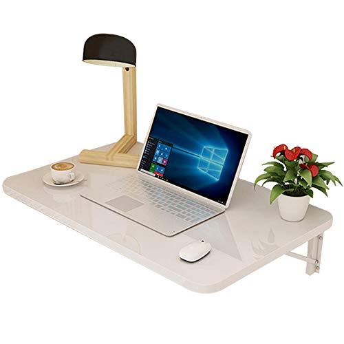 STTG Mesa Plegable de Pared Blanca, Mesa de Comedor Plegable de Hoja desplegable para Espacios pequenos, Escritorio de computadora, Escritorio convertible-50 × 30 cm