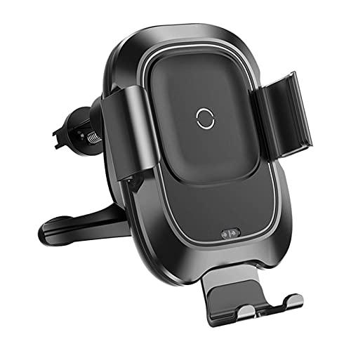 RHGEIUCY Soporte para automóvil Inteligente Carga inalámbrica Tenedor de navegación para teléfono móvil Sensor infrarrojo Soporte de Coche Salida de Aire Carga rápida