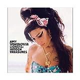 Sängerin Amy Winehouse Lioness Hidden Treasures Albumcover Leinwand Poster Wandkunst Dekor Bild Gemälde für Wohnzimmer Schlafzimmer Dekoration 50 × 50 cm Unframe style1