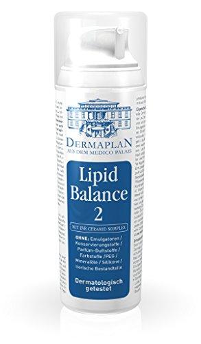 DERMAPLAN - Lipid Balance 2 - Creme für trockene Haut z.B. bei Neurodermitis oder Schuppenflechte150ml- für Gesicht und Körper - mit Vitamin E und Betaglucan - Made in Germany - 100% vegan