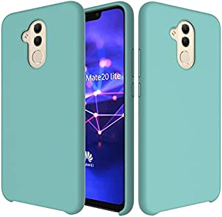 XIANGBAO-Personality case Premium Ultra Svelte Shockproof Liquid Silicone Soft Rubber Comfortable Protective Case for Huawei Mate 20 Light/Maimang 7 (Color : Light Blue)