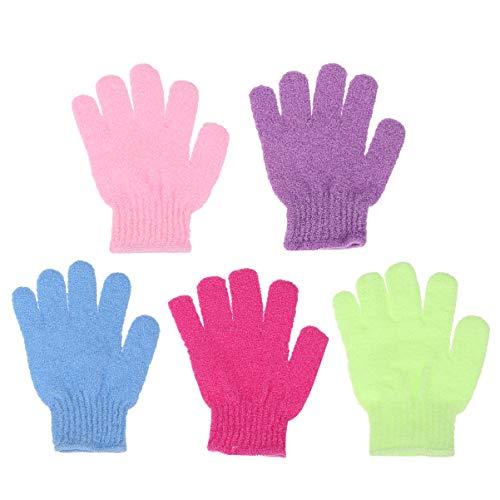 Lurrose 10 piezas guantes de baño guantes exfoliantes...