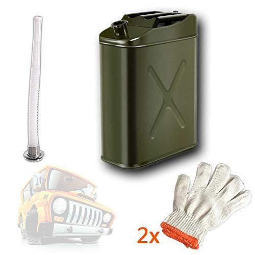 Jerry kan worden toegepast op Gas Benzine Benzine Diesel Oil Liquid watertank met hevelslang met slang en filter tuit,10L
