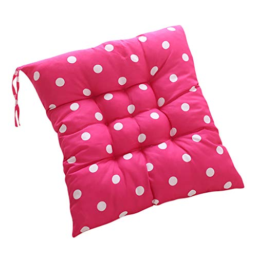 Nargar Seat Cushion Polka Dot Chair Cushions Pads for Dining Chairs Square Office Chair Car Floor Seat 15.75' x 15.75' Red