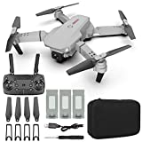 Drone with Double 4K FPV Camera 120° wide-Angle WiFi RC Quadcopter Helicopters Long flight time ( 3 Batteries ) Auto Hover Trajectory Flight 3D Flips RTF