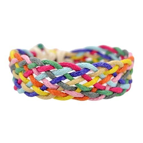 ZKZK Pulsera de orgullo LGBT con cuerda trenzada hecha a mano de la amistad, tamaño ajustable, para gays y lesbianas LGBTQ mujeres y hombres (HYU9)