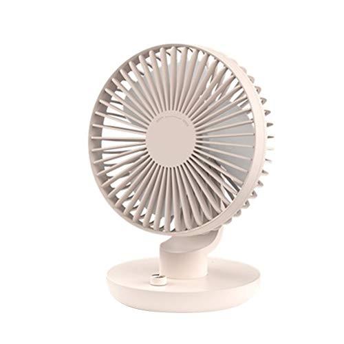 Clenp Ventilador, Ventilador De Enfriamiento Silencioso Recargable del Mini USB 120 Grados del Aire Acondicionado del Escritorio De La Rotación Rosa Talla única