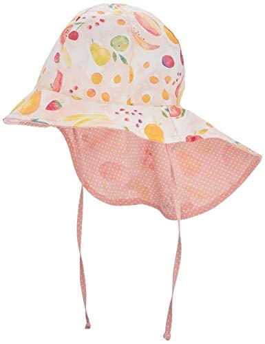 maximo Mädchen Nackenschutz Mütze, Mehrfarbig (Zartrosameliert-Gelb-Früchte 40), (Herstellergröße: 53)