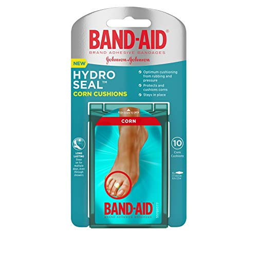 Band-Aid Brand Hydro Seal Bandages Corn Cushion, Waterproof Corn Pads, Medium 10 Count