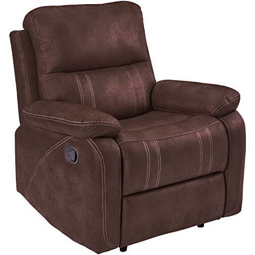 Merax Recliner Chair Lazy Sofa, Padded Cushions, Chocolate