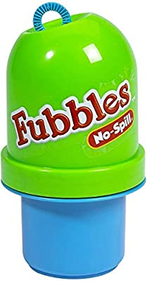 Little Kids Fubbles No-Spill Tumbler Includes 4oz Bubble Solution and Bubble Wand (Tumbler Colors May Vary) by Little Kids
