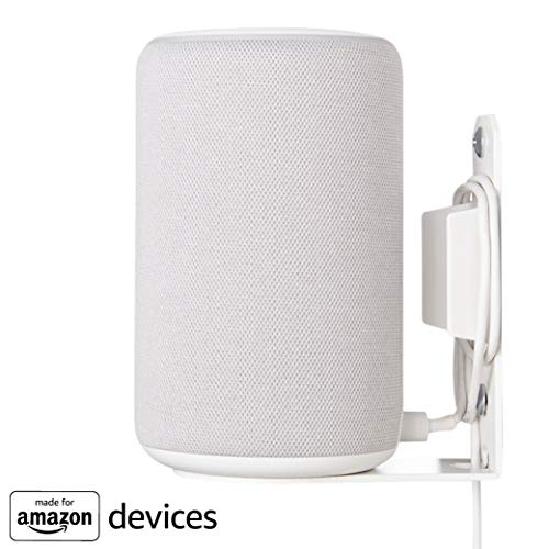 Piedistallo regolabile in altezza Made for Amazon per Amazon Echo Plus (2a Gen) e Echo (3a Gen) - Include cavo di prolunga - Singolo