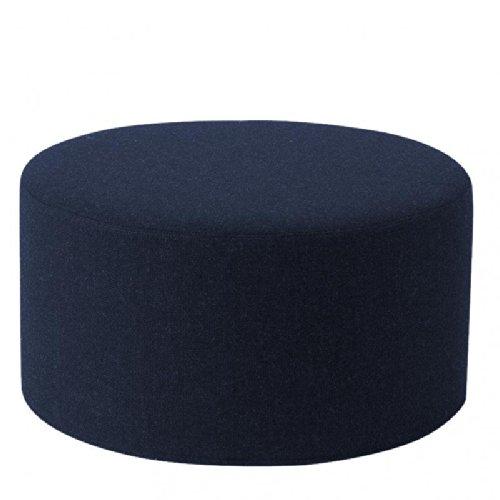 Drum Hocker/Beistelltisch L, dunkelblau Stoff Filz 859 H 30cm Ø 60 cm