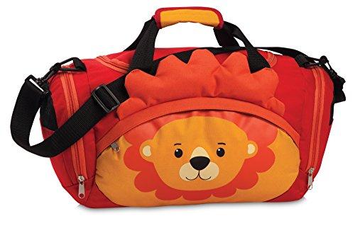 Fabrizio Kindertasche Sporttasche Reisetasche Löwe, Jungen Mädchen Kinder, rot, 39 x 25 x 20 cm