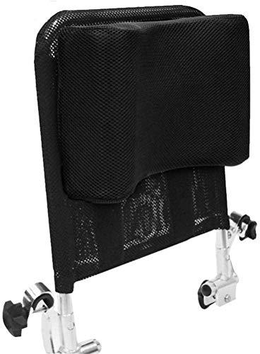 Einstellbare Rollstuhl Kopfstütze Rückenlehne Neck Unterstützung, Komfortable Sitz Zurück Kissen U Typ Kissen, tragbare Neck Rest Kissen Back Extension Kissen für Reise Rollstuhl Zubehör (Schwarz)